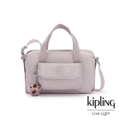 Kipling 優雅高級灰波士頓手提兩用包-BRYNNE