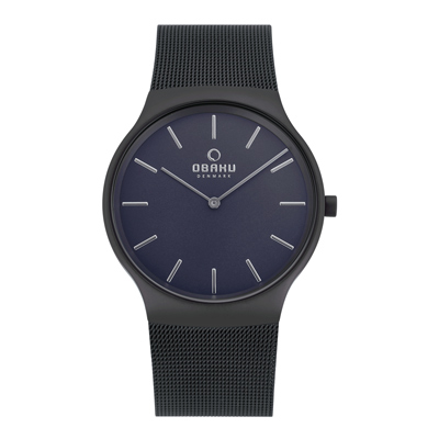 OBAKU 低調不凡時尚腕錶-V178GXBLMB-39mm