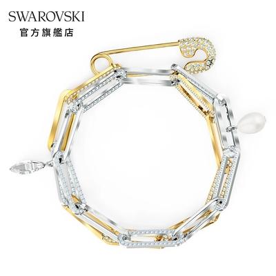 SWAROVSKI 施華洛世奇 SO COOL 多種金屬安全扣針造型手鏈