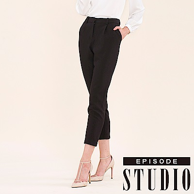 EPISODE Studio -  OL率性設計七分褲(黑)