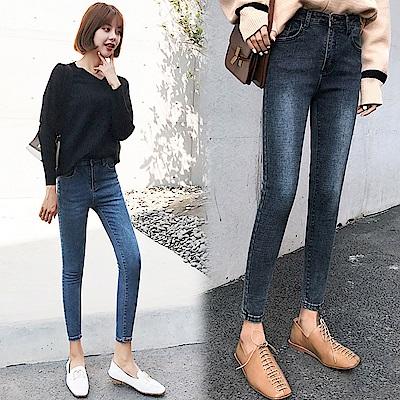 高腰修身顯瘦牛仔褲-共3色(S-3XL可選)    NUMI 森