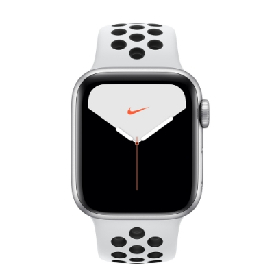 Apple Watch Nike S5(GPS+網路)40mm銀色鋁金屬錶殼+白色錶帶