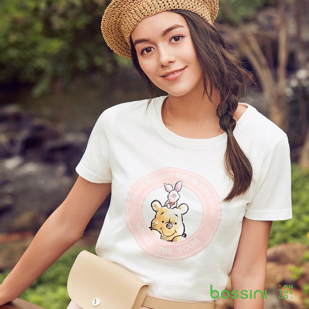 bossini女裝-小熊維尼印花短袖T恤05灰白