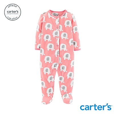 Carter's 大象印圖包腳連身裝