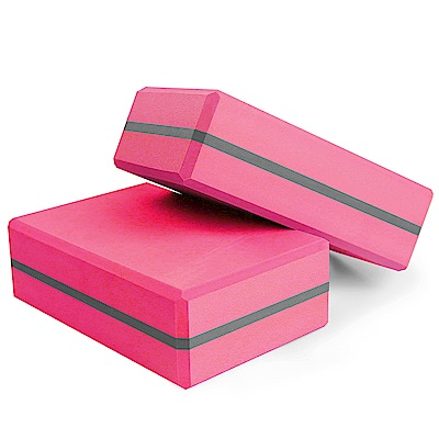 Yenzch 瑜珈磚/高密度EVA(桃紅 2入) RM-11135-2
