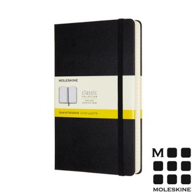 MOLESKINE 經典硬殼筆記本 (L型) 加量型-方格黑