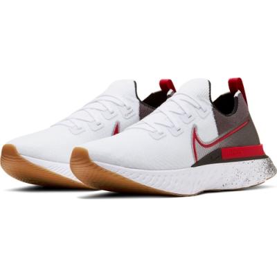 NIKE  襪套 緩震 慢跑 訓練 運動鞋  男鞋  白灰紅  CW5245100  REACT INFINITY RUN FK