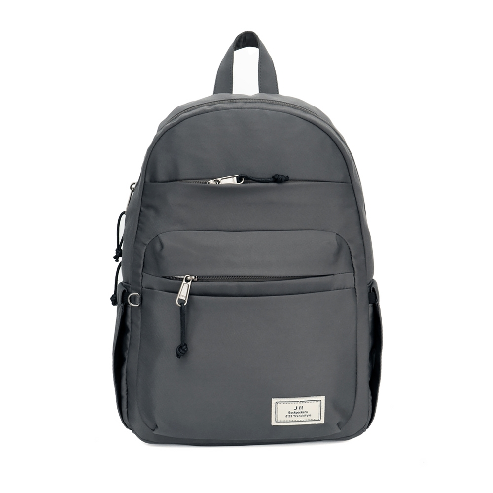 J II 後背包-極緻休閒防潑水後背包-深灰色-6299-3