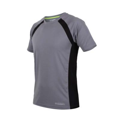 FIRESTAR 男短袖吸排圓領衫-短T T恤 慢跑 路跑 灰黑