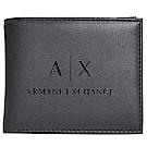ARMANI EXCHANGE 經典品牌字母LOGO圖騰六卡短夾(黑)