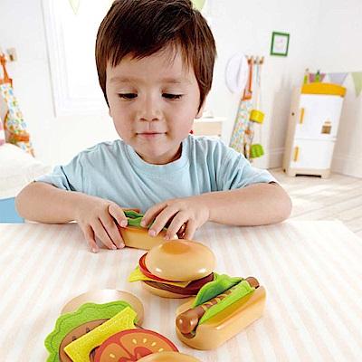 德國Hape愛傑卡 下午茶系列主廚漢堡&熱狗