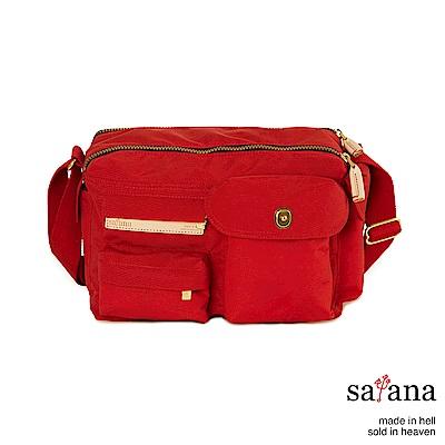 satana - 簡單生活斜肩包 - 中國紅