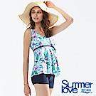 夏之戀SUMMERLOVE 大女長版二件式泳衣