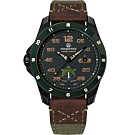 elegantsis JX65AS-SF 陸軍特戰 傘兵 限量機械腕錶-軍綠