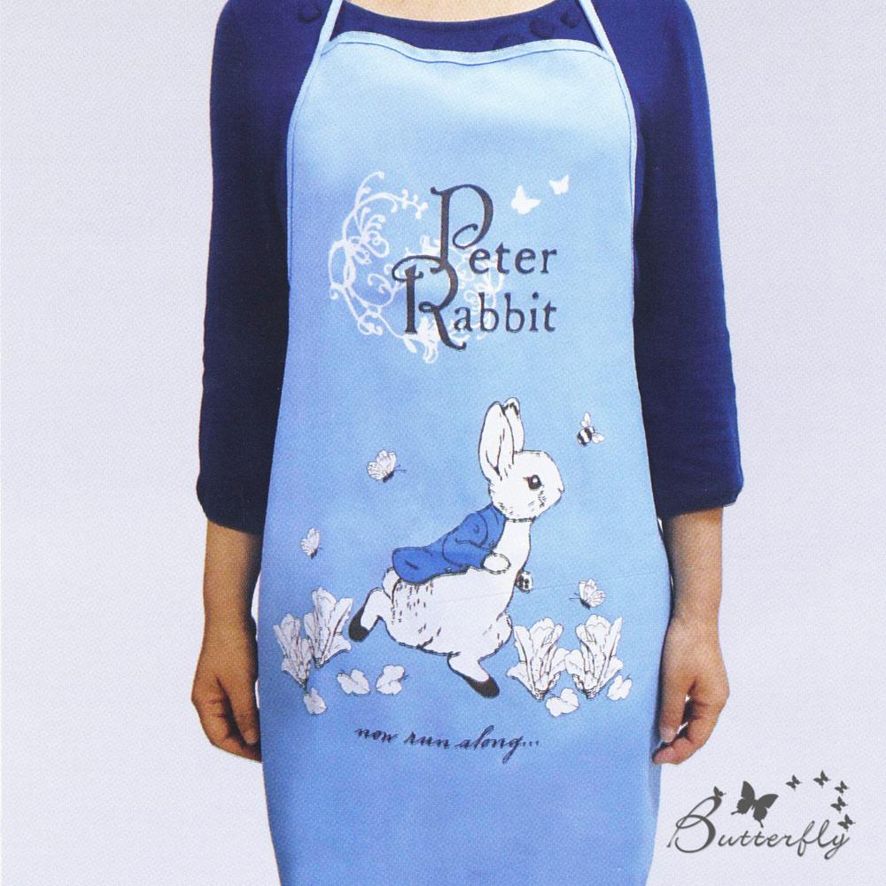 比得兔薄款圍裙-跑兔-藍-彼得兔家居系列