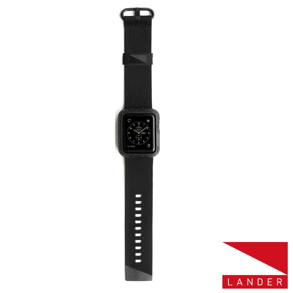 美國 Lander AppleWatch Series 4 40mm Moab錶殼錶帶-黑