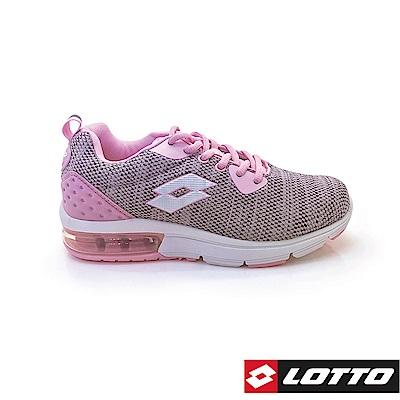 LOTTO 義大利 女 ARIA KNIT 氣墊跑鞋 (粉紅)