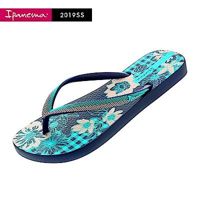 IPANEMA  FASHION系列 印花夾腳拖鞋-藍
