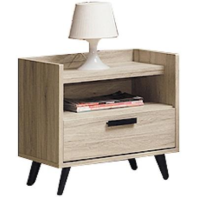 文創集 利森時尚1.7尺單抽床頭櫃/收納櫃-51.5x39.5x54.5cm免組