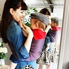 法國je porte mon bebe JPMBB PESN雙環微彈親密揹巾,薰衣草紫/棕