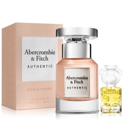 Abercrombie & Fitch 真我女性淡香精30ml+Moschino女小香
