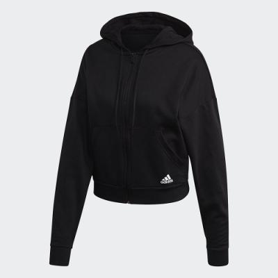 adidas 連帽外套 運動 休閒 訓練 女款 黑 FR5102 W BOS AOP FZ HD