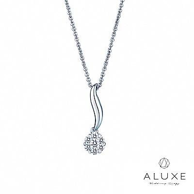 A Diamond 亞立詩鑽石 花語 18K金 璀璨美鑽項鍊