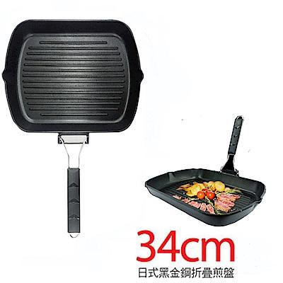 PERFECT 理想日式黑金鋼折疊煎盤34cm