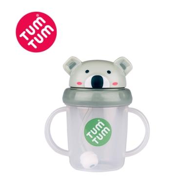 TUM TUM 無尾熊凱文-頭蓋型防漏學習水杯(灰)200ml