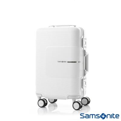 Samsonite新秀麗 20吋Tri-Tech摩登PC鋁框減震輪TSA登機箱(霧白)