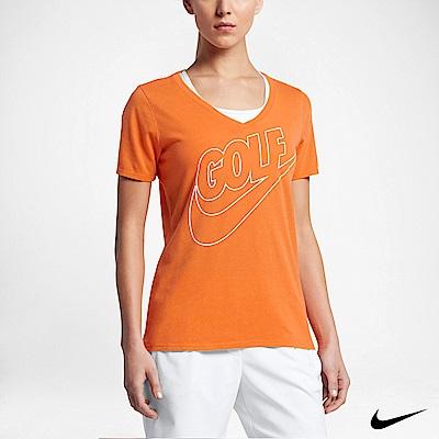 NIKE DRY FADE 女運動高爾夫上衣 橘 872117-856