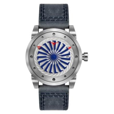 ZINVO 刀鋒戰士渦輪機械腕錶-藍X銀(BMRNE)/44mm