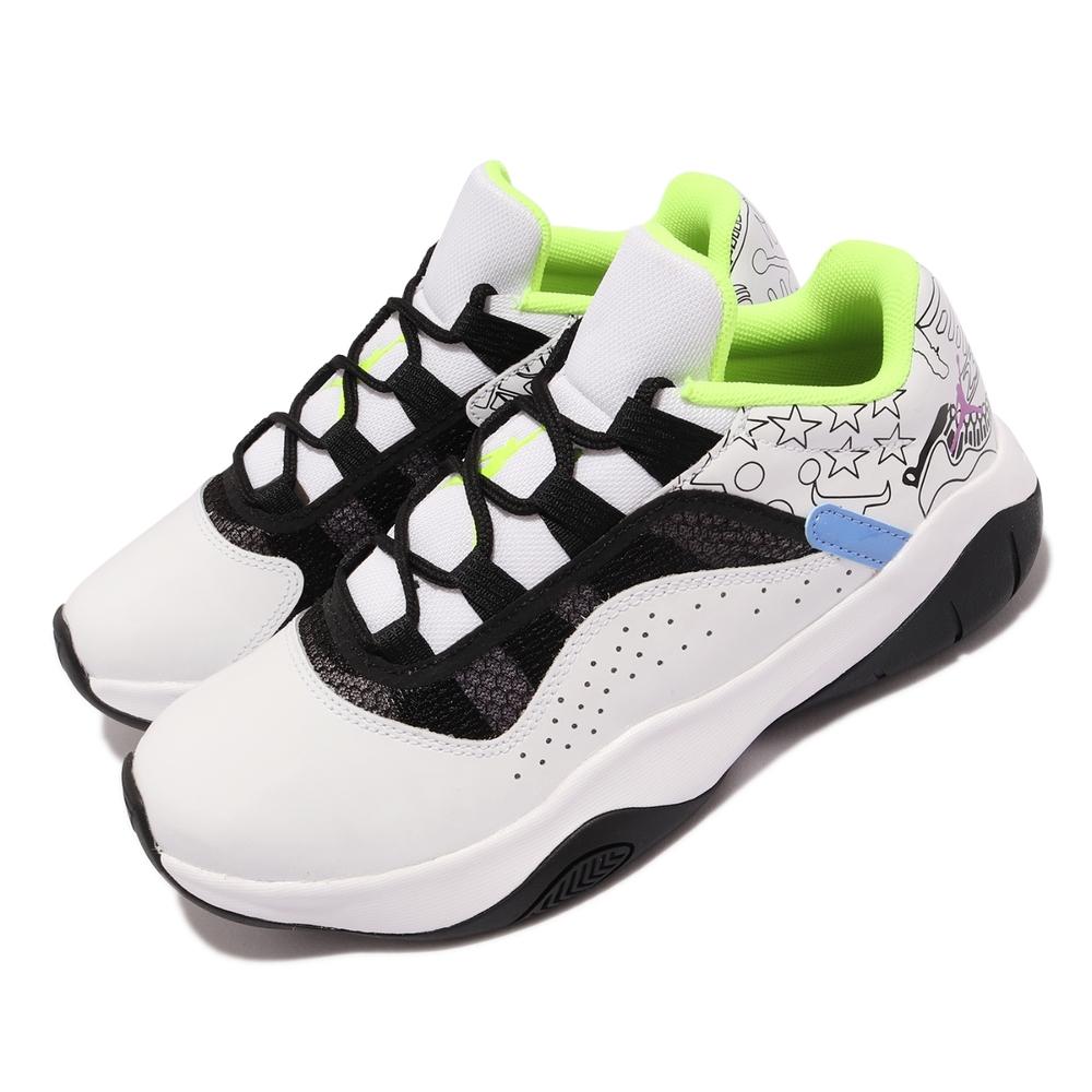 Nike 籃球鞋 Air Jordan 11 CMFT Low GS 女鞋 喬丹 11代設計靈感 避震 包覆 大童 白 黑 DM3397-100