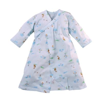 台灣製薄款純棉嬰兒長睡袍 b0287 魔法Baby