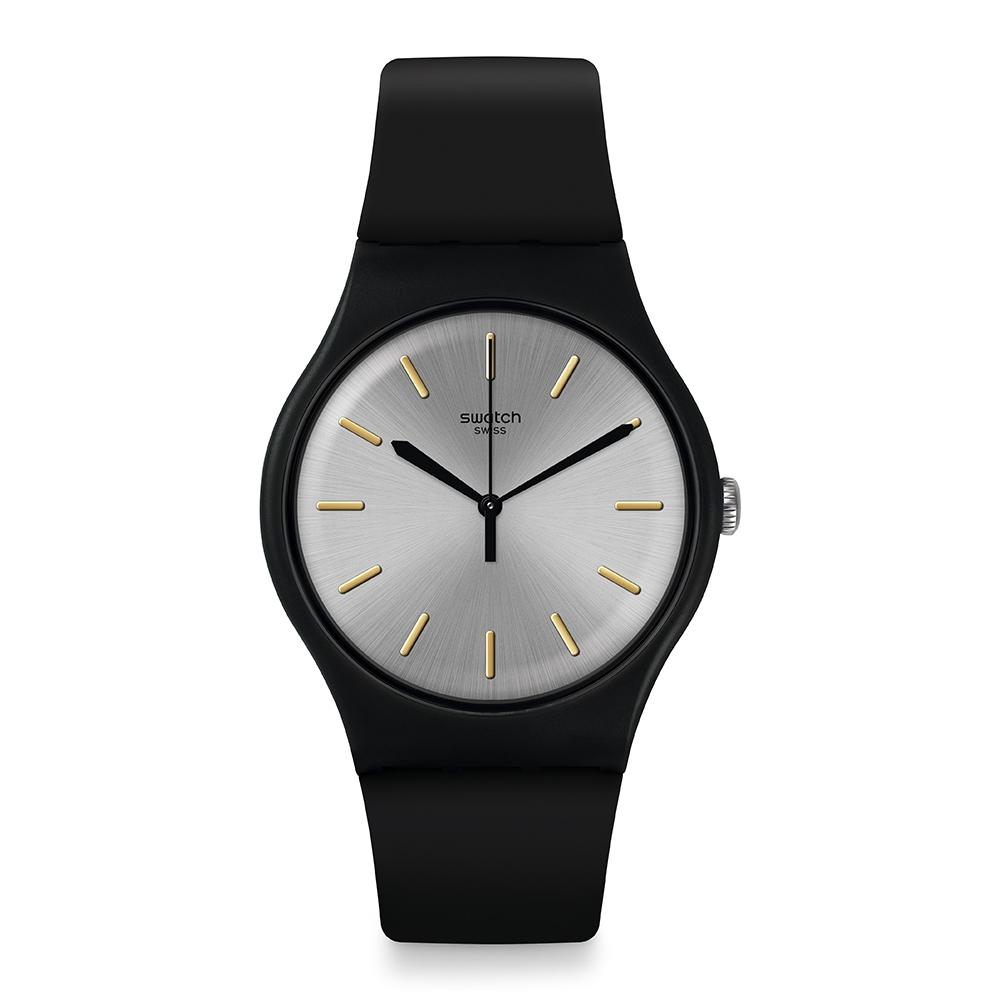 Swatch Core Refresh系列手錶 BACKTOBLACK 黑的純粹-41mm