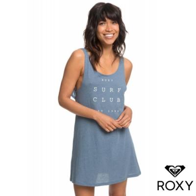 【ROXY】TRAVEL TO LIVE TEE DRESS 美背洋裝 灰藍