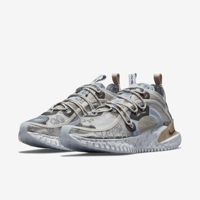 Nike 休閒鞋 Flow 2020 ISPA 運動 男鞋 輕量 透氣 連動式鞋帶 都市機能 穿搭 銀 卡其 DM2830003