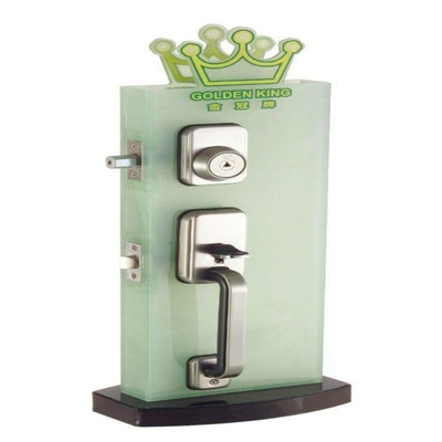 門厚40-50mm 金冠牌 GOLDEN KING 把手+輔助鎖 雙把手鎖-龍形式鎖匙(二舌)