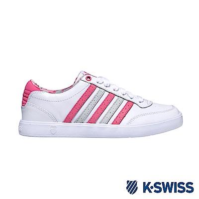K-Swiss Court Lite CMF休閒運動鞋-女-白/粉紅