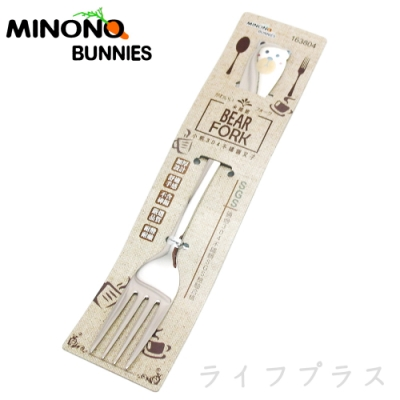 米諾諾 304不鏽鋼 小熊叉子-6入