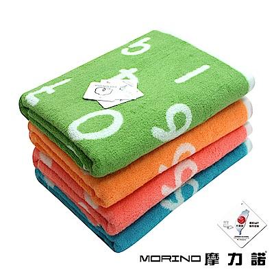 MORINO摩力諾 美國棉魔幻數字緹花浴巾/海灘巾