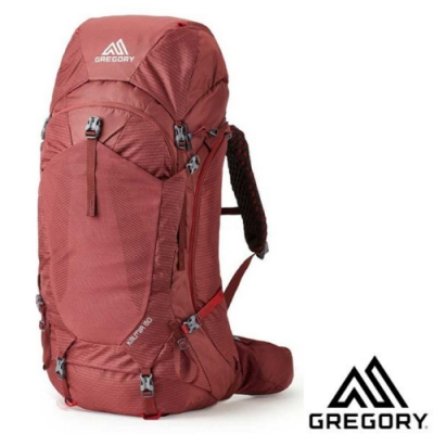 GREGORY 女新款 KALMIA 60L 專業網狀透氣健行登山背包(S/M)_波爾多紅