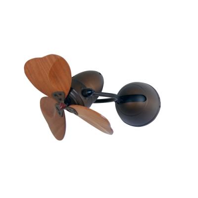 VENTO芬朵 FINO-CHIC 16吋吊扇 大心型 仿古色本體 深木紋葉片 不含安裝
