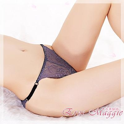 內褲 低腰透明蕾絲性感內褲 EM衣柔魅姬(紫色)
