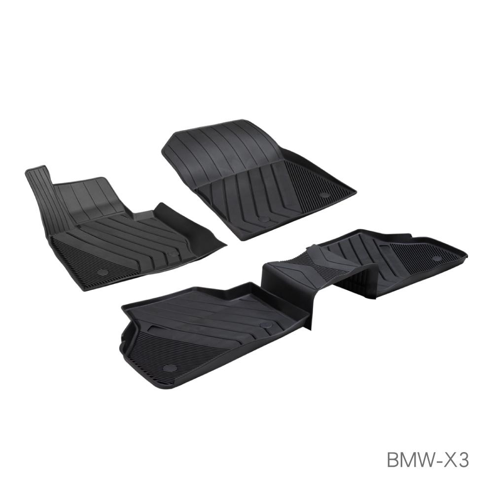 MIBO 米寶 魔形立體腳踏墊 BMW-X3 2013~2017年5片式 黑色