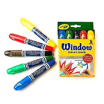 美國crayola 繪兒樂 玻璃彩繪絲滑蠟筆(4Y+)