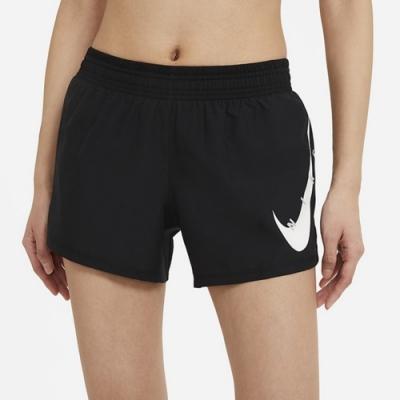 Nike  SWOOSH RUN SHORT 女運動短褲 黑-CZ9316010