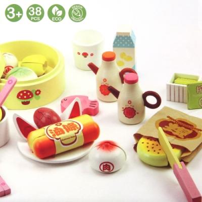 木製扮家家酒學習玩具系列-中式早餐