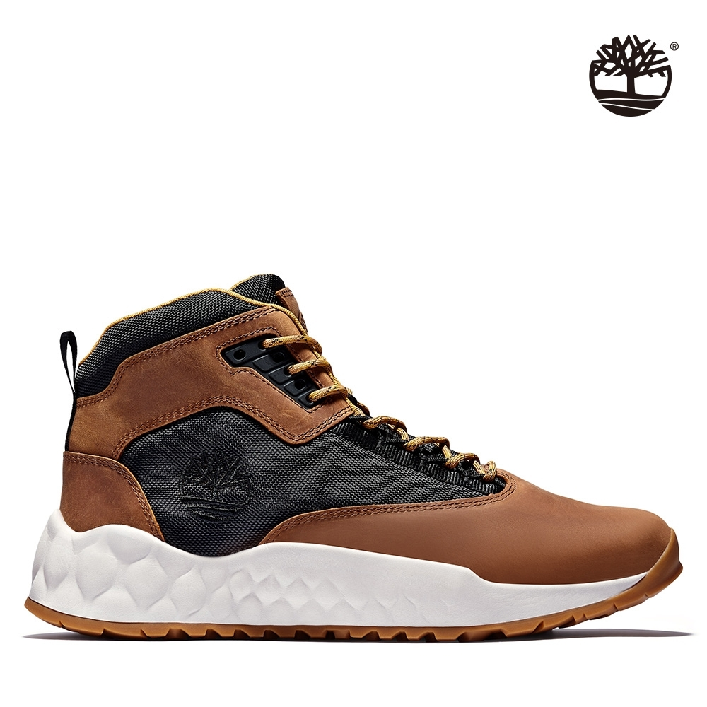 Timberland 男款中階咖啡黑色GreenStride全粒面革中筒靴|A2DT9