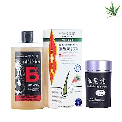 【新年特惠組】鋸棕櫚洗髮精300ml+增髮纖維單瓶組22G